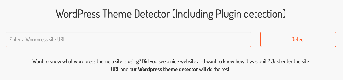 WordPress Theme Detectorトップ