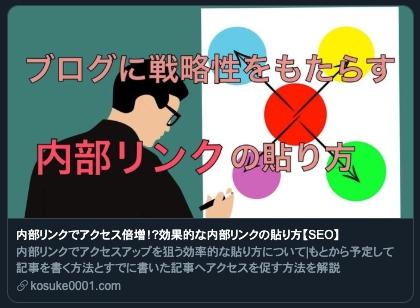 TWitterでのブログカード表示例