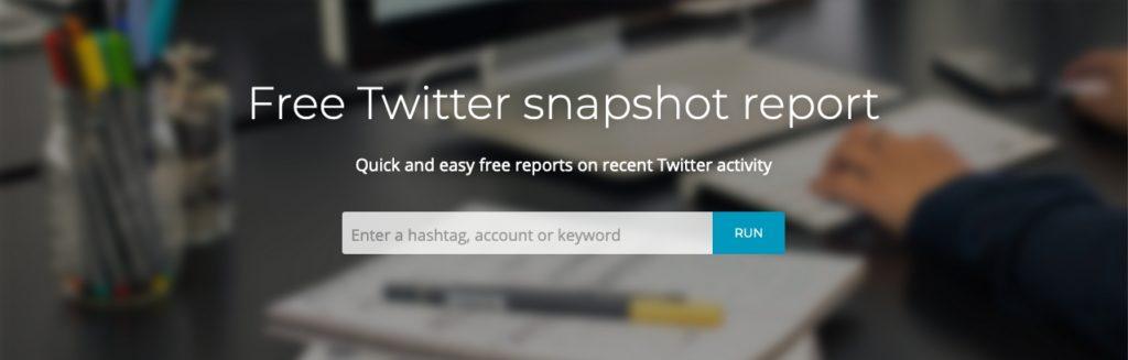 free Twitter anapshot report