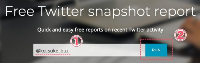 free Twitter anapshot report使い方