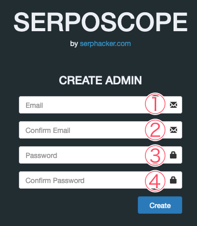 serposcopeアカウント作成