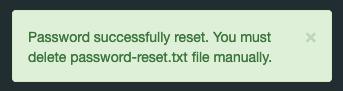 serposcopeパスワード再設定後のメッセージ