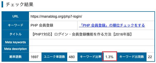 ohotuku.jpでライバルキーワードの出現率チェック