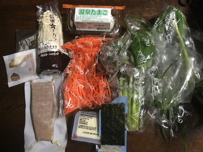 ビビンバ丼材料